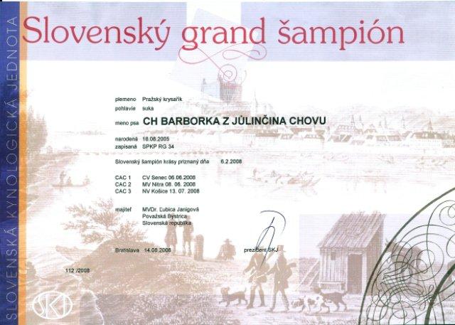 Slovenský grandšampión