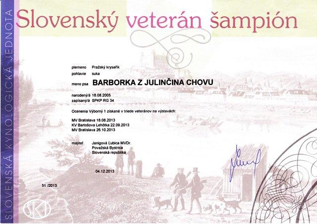 Slovenský veterán šampión