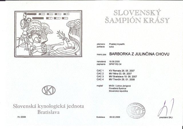 Slovenský šampión krásy.