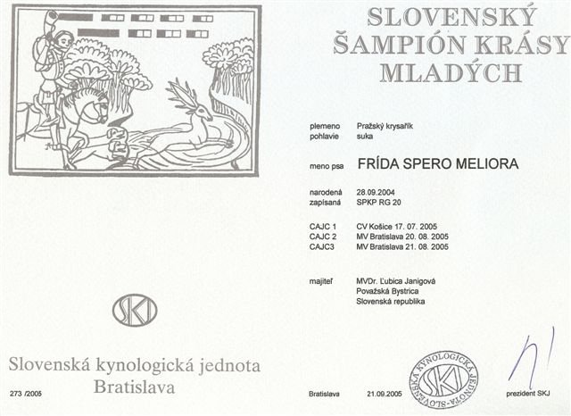 Slovenský šampión krásy mladých.